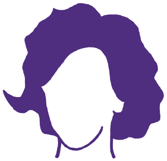 C.D. Wright Women Writers Conference Logo (purple silhouette of C.D. Wright)